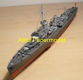 [Alice papermodel]Longest 1.1 meter 1:200 1:150 1:100 German Z-1 Z1 class destroyers battleship models