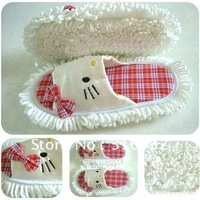 P1 Creative slippers, brushing mop slippers,dust mop slippers shoes foor cleaner clean easy detachable
