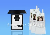 Long distance Cheapest wholesale price Free Shipping clear image 1 camera+3 monitors 2.4 inch wireless digital video door phone