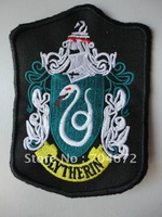 High Quality Nice New Harry Potter School House Crest Patch Badge Slytherin House Cosplay Halloween Xmas Birthday Gift