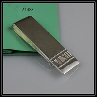 Wholesale Elegant money clip jewelry 925 Sterling silver jewelry beautiful silver money clip 1pcs/lot free shipping A1488