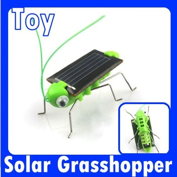 Free shipping Brand new Solar Toy, Solar Grasshopper,Green gift,Solar Powered Grasshopper 150003