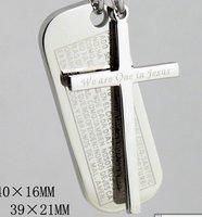 free shipping 10pcs/lot wholesale fashion  cross necklace silver pendant cross pendant cross necklace fashion jewelry