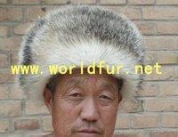 BY-RC010  badger fur hat,badger skin hat