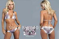Brand New Fashion Ladies Popular Cheap Bikinis Set Rhinestone Beachwear Bathing Suit White S-XL