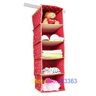 whole sale 3pcs/lot New Arrival five hanging bag,Storage Bag in Wardrobe  free shipping