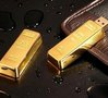 Free shipping Wholesale full capacity NEW gold bar Genuine 4GB 8GB 16GB 32GB USB 2.0 Memory Stick Flash Pen Drive