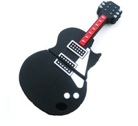 Free shipping Wholesale full capacity black guitar Genuine 4GB 8GB 16GB 32GB USB 2.0 Memory Stick Flash Pen Drive