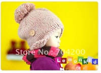 12pcs/lot-Girl's Knitted hat/Girl's hats/Infant Hat for winter