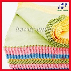 Free Shipping 14x14cm Colorful glasses lens eyeglasses eyewear microfiber cleaning cloth(China (Mainland))