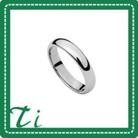 Free Shipping and Free Engrave Polished shiny 4MM tungsten women's ring
