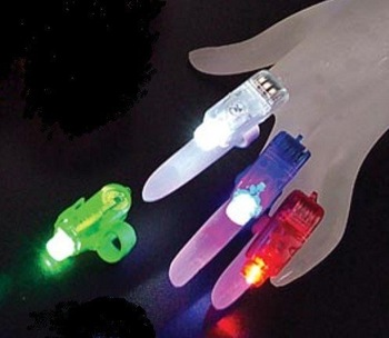 wholesale 5000pc/lot Party light - LED Finger ring laser Light -red.white,green,blue,free shipping