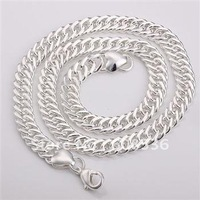 925 sterling silver 10MM MEN'S  Necklace ,925 sterling jewelry,HOT SAL N110