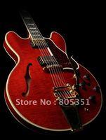 Musical Instruments Fashion Guitar Custom  355 crimson  Hole body Electric Guitar