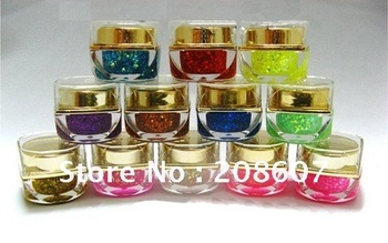 Charm Nail Art Shiny Glitter UV Gel 12colors 8ml Nail Flash Powder Manicure Product Wholesale
