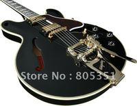 style Musical Instruments Fashion Guitar Custom  355 black Electric Guitar