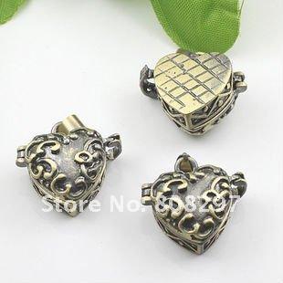 DIY 10*20mm Fashion Necklace,Pendant Bronze European style Prayer Craft Photo Frame Locket Box,Jewelry Finding 20pcs/lot(China (Mainland))