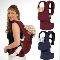 HOT SALE!!! Free shipping wholesale and retail comfortable front/back baby carrier with a cap,two colors for choise