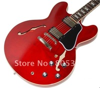 best Musical Instruments 335 Hole body Block Inlay Electric Guitar red