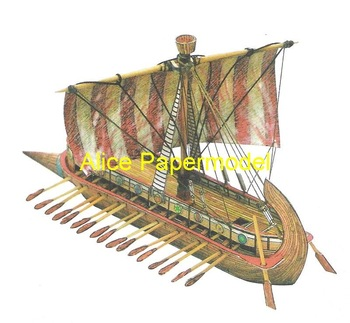 [Alice papermodel] Long 20CM Ancient sailing boats ship models