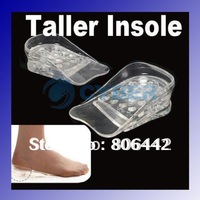5 Layers Lift Gel Silicone Shoe Insole Adjustable Fashion Hot Comfortable Height Increase Taller Pads free shipping
