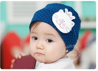 12PCS/LOT-princess rabbit Baby cap Baby hat children/Toddler Cap/Infant hats