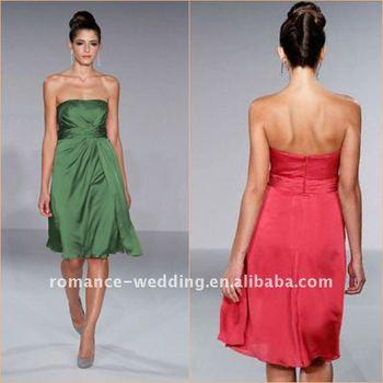 PC0005 Latest Simple Knee Length Bridesmaid Dress 2011