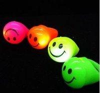 Free Shipping New Novelty 36pcs/lot 3*4cm  LED flashing smile face ring flash finger ring LED light ring for Christmas