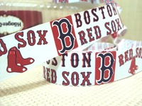 50Y011 david ribbon 7/8 '' boston red sox grosgrain ribbon hairbows printed ribbon freeshipping