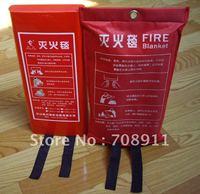 wholesale Fire -proof Glass Fiber Fire Escape Blanket 1.5*1.5m Soft Bags