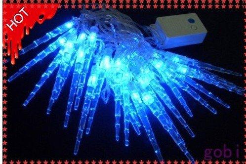Wholesale - 30 Blue LED Icicle Christmas Decoration Light 10ft string-MixedLot 12pcs/Lot(China (Mainland))