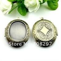DIY 39mm Fashion Necklace,Pendant Bronze European style Prayer Craft Photo Frame Locket Box,Jewelry Finding 50pcs/lot