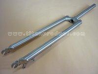 Titanium Bicycle Fork(Disk Brake, Mudguard and Rack Mounts) For 29er MTB Frame