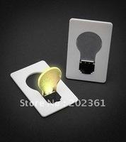 free shipping 600pcs/lots credit card lightbulb / Portable Pocket LED Card Light Lamp