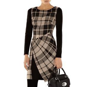 Sleeve Dress on Women Work Office Jean Dresses Ol Pale Tencel Denim Shift Dress