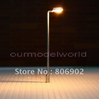 free shipping 20pcs 12V train layout model lamppost lamp HO OO Scale Lights 65mm Silvery T41