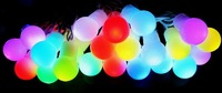 Free Shipping,6M 60LEDs String  Lights / 7-color Ball Design/Festivel/Christmas Lighting