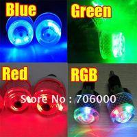 "7/8"" Motorcycle Decoration Handlebar End Hand Grips Billet LED Flashing Light Blue,Red,Green,RGB"