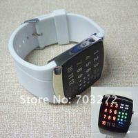freeshipping!5pcs/lot Brand New!Super Star Binary LED Digital GEL Sport Wrist Watch !