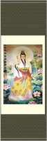 New Arrival,wholesale 140*45 Temple Painting Ideas of Bodhisattv Painting RW-002 Online,silk scroll,Free shipping
