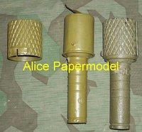 [Alice papermodel] 1:1 WWII RGD Grenade heavy machine gun Assault Rifle weapon toygun models
