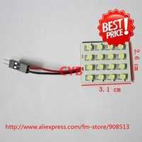 Wholesale 10pcs/lot Car dome light 16 1210 SMD LED light panel White color T10 and Dome light adapter