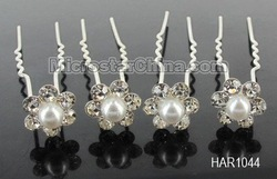 20x Clear AB Crystal Pearl Plum Blossom Wedding Bridal Hair Pins Clips! Free Shipping(China (Mainland))