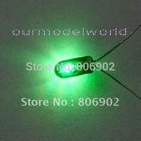 free shipping 100pcs Grain of Wheat Bulbs Green Small Bulbs 6V 3mm for train layout
