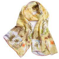Free shipping Hot wholesale & retail 2011 fashion 100% silk scarf,ladies'scarves 42*160cm(YY006)