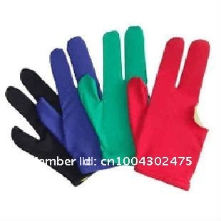 1lot=10pcs Billiard Pool Cue Shooters 3 Fingers Gloves