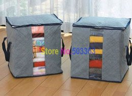 8pcs wholesale New Arrival Bamboo Storage Bag,home storage box, clothes storage free shipping