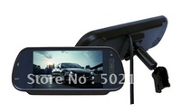 Replacement 7inch Rearview mirror monitor with MP5  player FM tranmitter Free shiping
