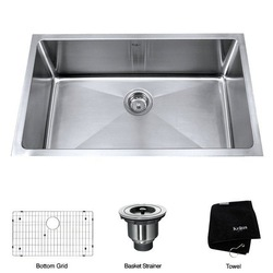 hot 22-inch Undermount Single Bowl Stainless Steel Kitchen Sink(China (Mainland))
