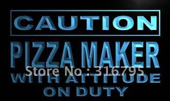 m617-b Caution Pizza Maker on Duty Neon Light Sign